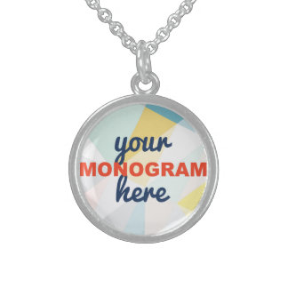 Customizable with your Monogram/Logo Sterling Silver Necklaces