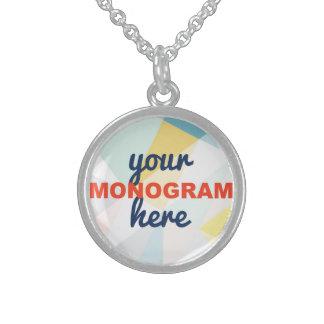 Customizable with your Monogram/Logo Round Pendant Necklace