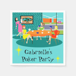 Customizable Women's Card Game Disposable Napkins