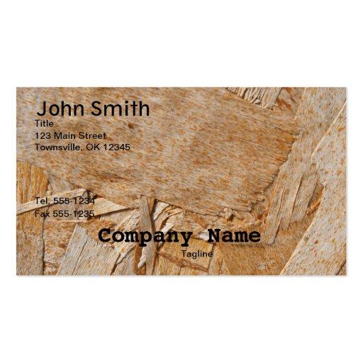 Customizable Wood Grain Business Card for Handymen