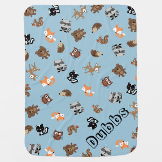 Customizable Woodland Baby Mashup Baby Blanket