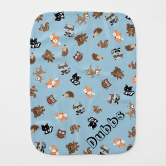 Customizable Woodland Baby Mashup Burp Cloth