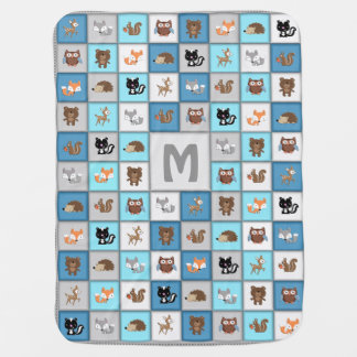 Customizable Woodland Patchwork Baby Blanket