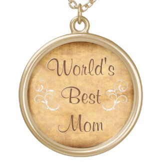 Customizable World's Best Mom Necklace