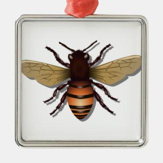 Customizable Yellow Bumble Bee Metal Ornament