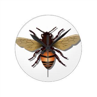 Customizable Yellow Bumble Bee Round Clock