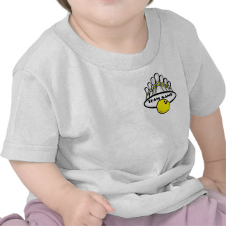 Customizable yellow infant bowling team tee