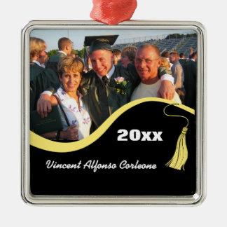 Customizable Yellow Tassel Graduation Ornament