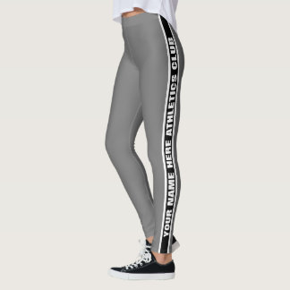 Customizable Your Club Name Striped Leggings