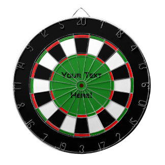 Customizable Your Text Here Traditional Dart Board