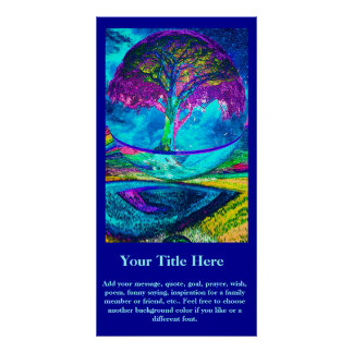 Customize a Poster - Neon Blue Tree of Life
