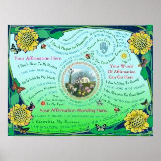 Customize a Sunrise Garden Affirmation Poster