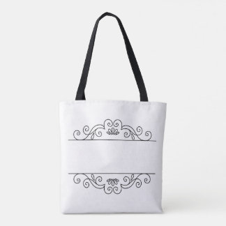 Customize-able Scroll-work Tote