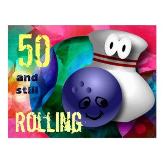Customize Age bowling Birthday Postcard