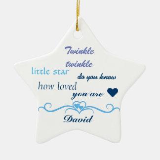 Customize, Baby Boy Star. Ceramic Ornament