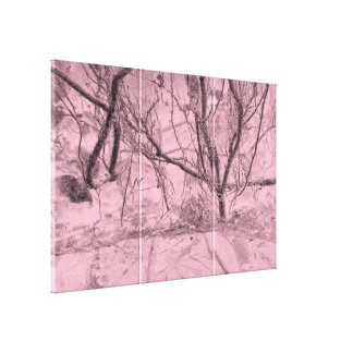 Customize Background color Abstract tree forest Canvas Print