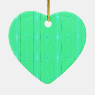 Customize Background Fluorescent Green Pattern Ceramic Heart Decoration