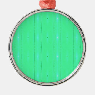 Customize Background Fluorescent Green Pattern Silver-Colored Round Decoration