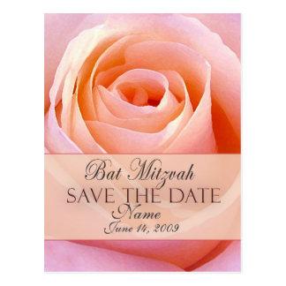 Customize Bat Mitzvah Save the Date Postcard
