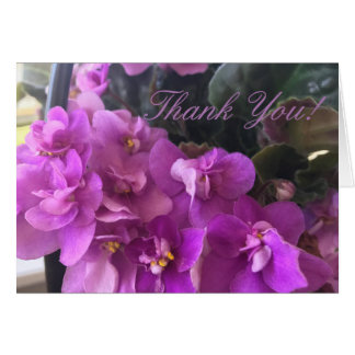 Customize Begonia Purple Flowers Thank You Card