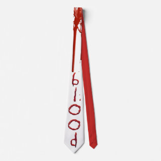 Customize bloody blood text tie