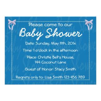Customize Blue Baby Boy shower invitation