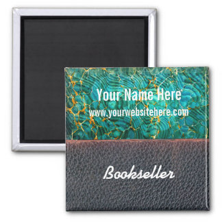 Customize Bookseller Magnet Marbled Paper Leather