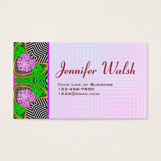 Customize both sides of Gatsby and Pink Business Card