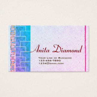 Customize both sides of Lavender Catalina Business Card