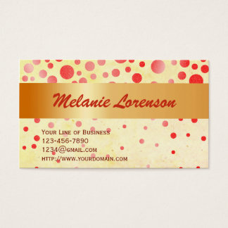 Customize both sides of Red Bubbles Business Card