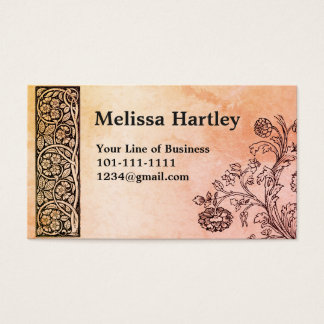 Customize both sides of Sienna Vines Business Card