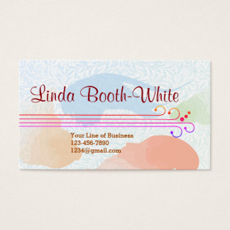 Customize both sides of Sienna Watercolor Business Card
