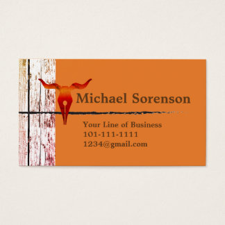 Customize both sides of Wood, Stone and Bull Head Business Card