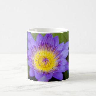 Customize Brilliant Blue Water Lily Bloom photo Coffee Mug