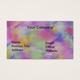 Customize Business Card, Colorful Business Card