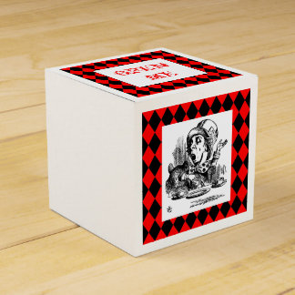 Customize Color Mad Hatter Harlequin Box Favour Box