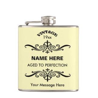Customize cute birthday flasks