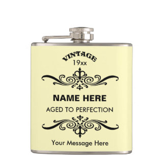 Customize cute birthday hip flask