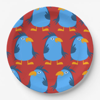 Customize Cute Blue Bird Plate