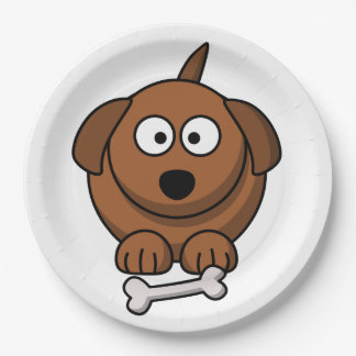 Customize Cute Dog Paper Plate