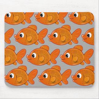 Customize Cute Orange Fish Mouse Pad