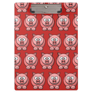 Customize Cute Pig Clipboard for Kids