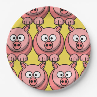 Customize Cute Pig Paper Plate