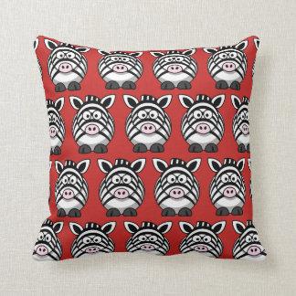 Cute Zebra Pillow : Zebra Cushions - Square Zebra Throw Cushions Zazzle