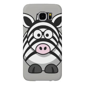 Customize Cute Zebra Samsung Galaxy S6 Cases