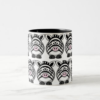 Customize Cute Zebra Two-Tone Coffee Mug