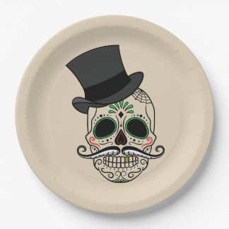 Customize Day of the dead skull plate