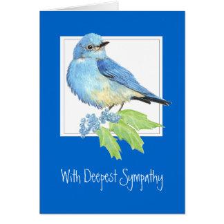 Customize, Deepest Sympathy, Mountain Bluebird Greeting Card