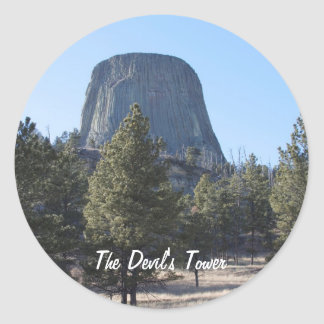 Customize Devil's Tower National Monument photo Round Sticker