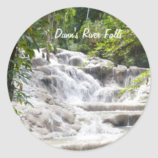 Customize Dunn's River Falls photo Round Sticker